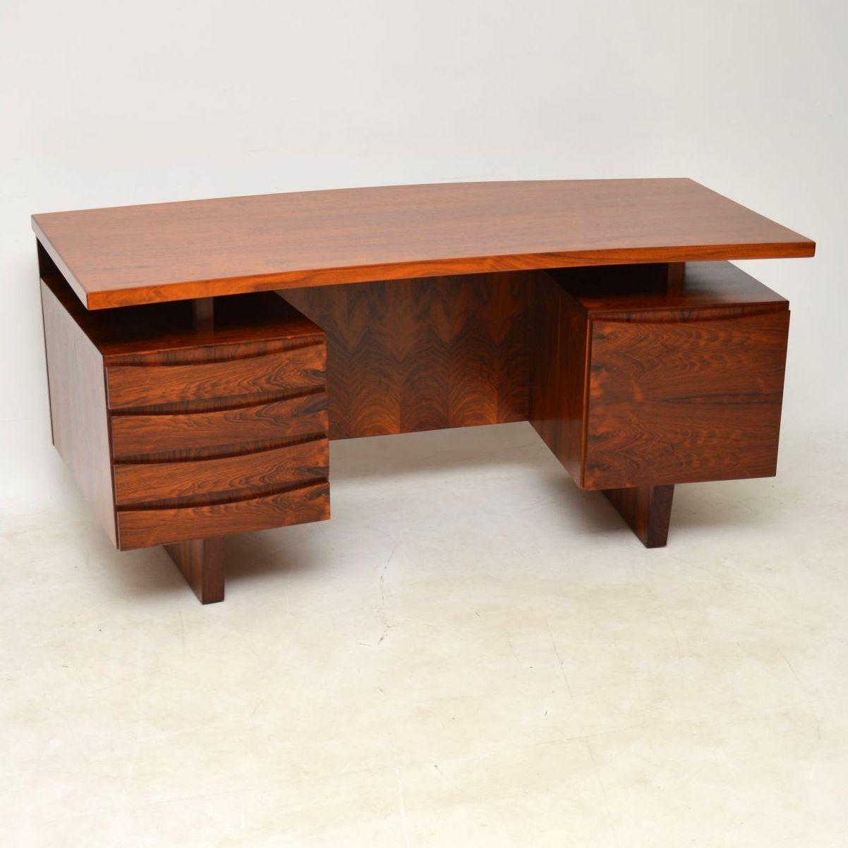 1960 S Vintage Danish Rosewood Desk Retrospective Interiors