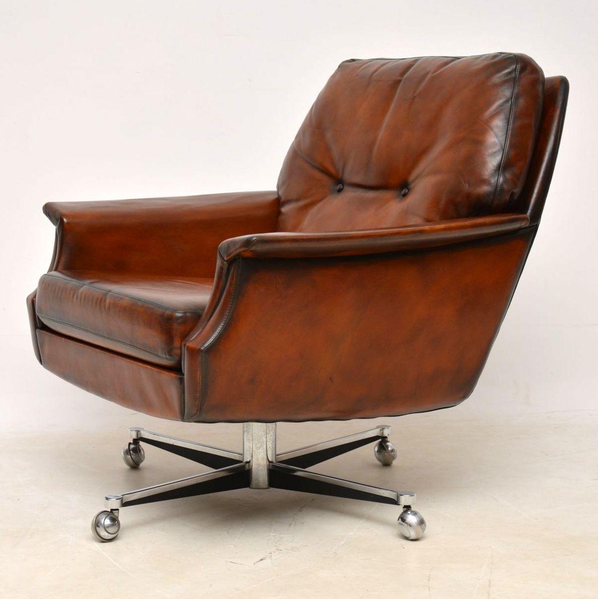 pair_danish_leather_chrome_swivel_armchairs_10
