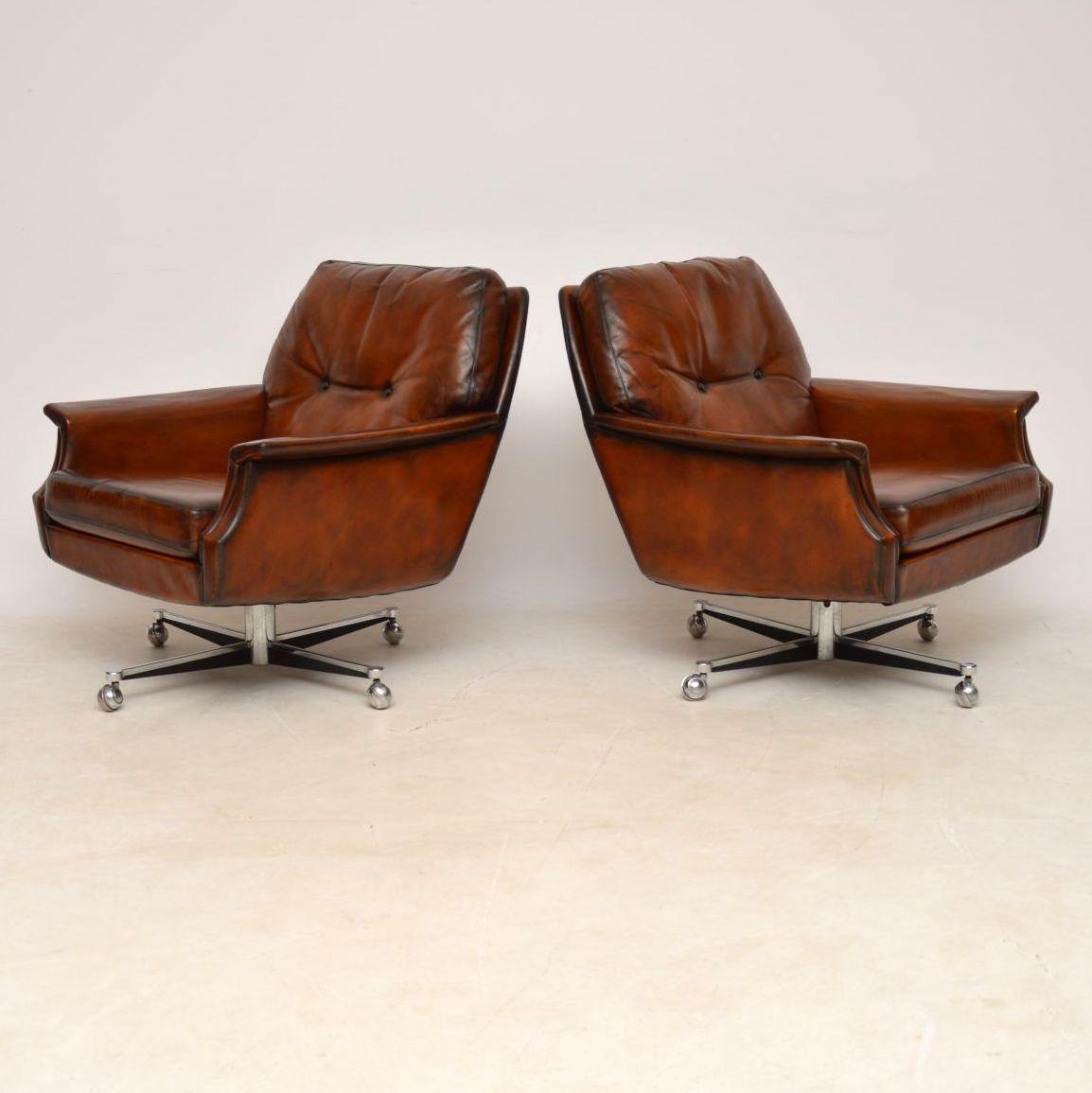 pair_danish_leather_chrome_swivel_armchairs_2
