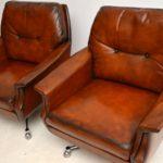 pair_danish_leather_chrome_swivel_armchairs_5
