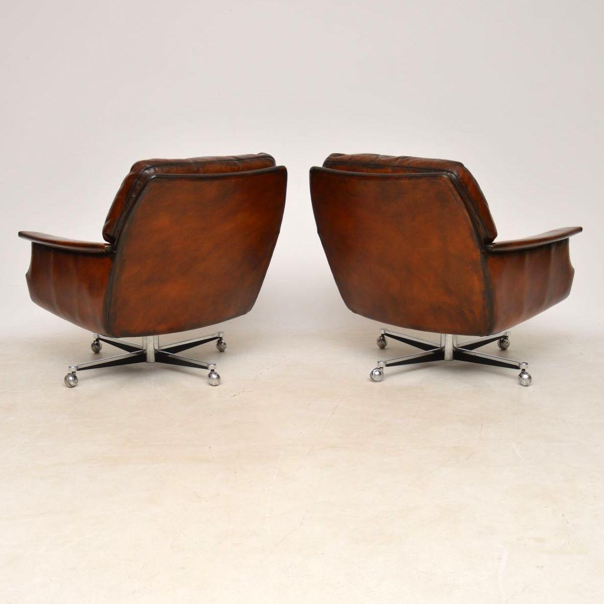 pair_danish_leather_chrome_swivel_armchairs_6