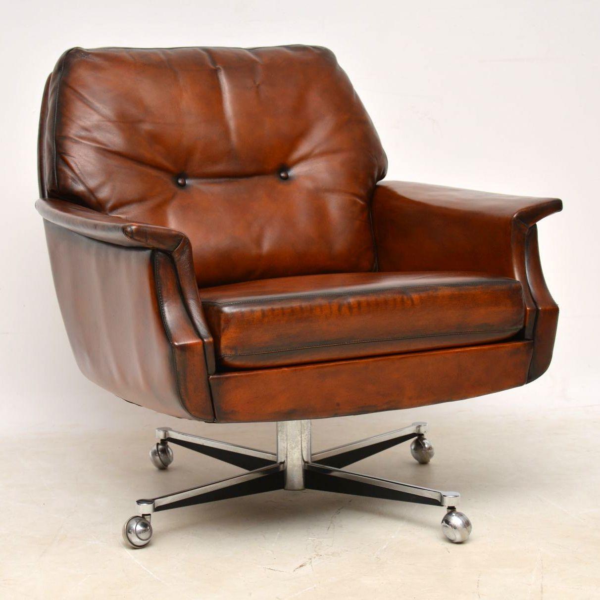 pair_danish_leather_chrome_swivel_armchairs_9