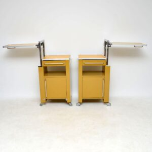 pair of retro vintage industrial bedside cabinets side tables