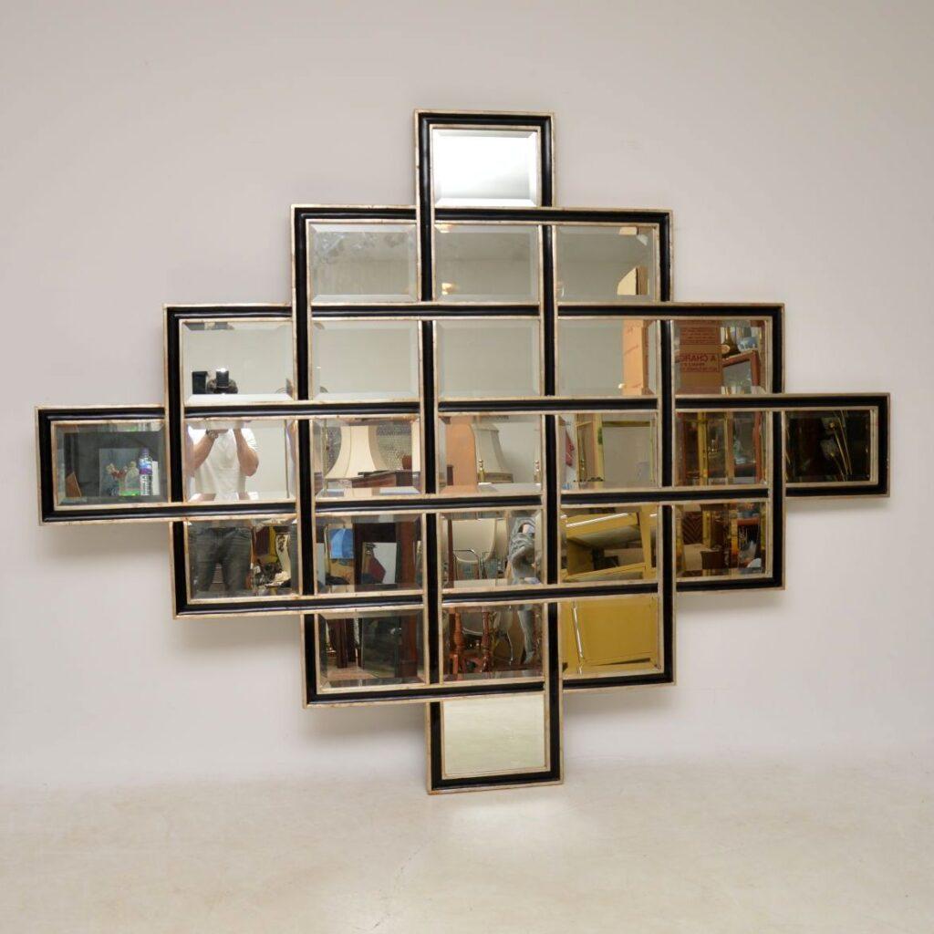 retro vintage large decorative mirror harrison and gil