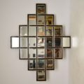 Extremely Large Vintage Decorative Mirror by Harrison & Gil