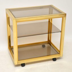 retro vintage italian brass drinks trolley zevi