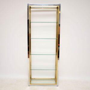vintage retro italian display cabinet bookcase zevi