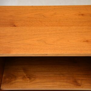 retro vintage walnut open bookcase gordon russell