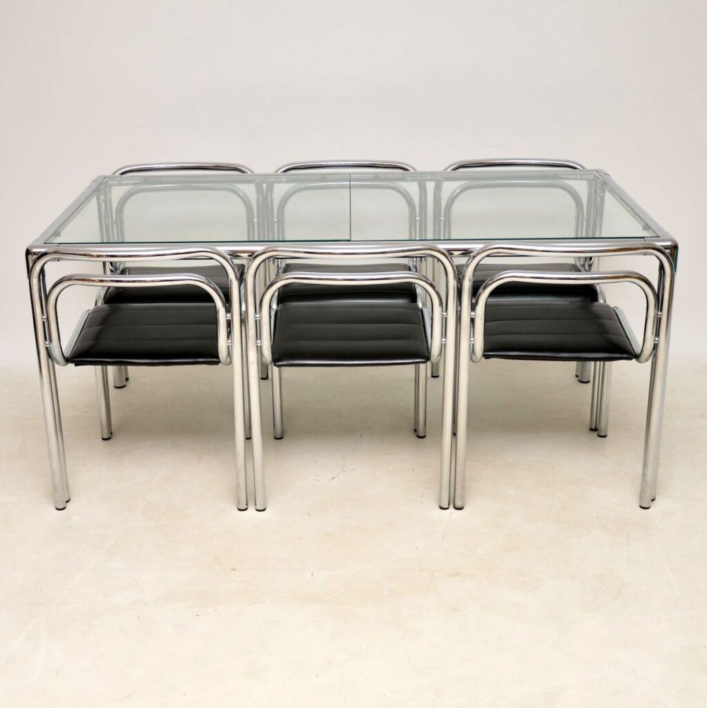 rodney kinsman omk dining table chairs vintage retro