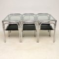 1960's Vintage Chrome Dining Table & Chairs by Rodney Kinsman for OMK