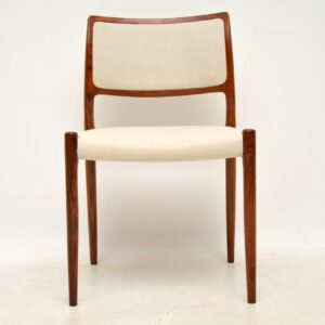 danish retro vintage dining chairs niels moller