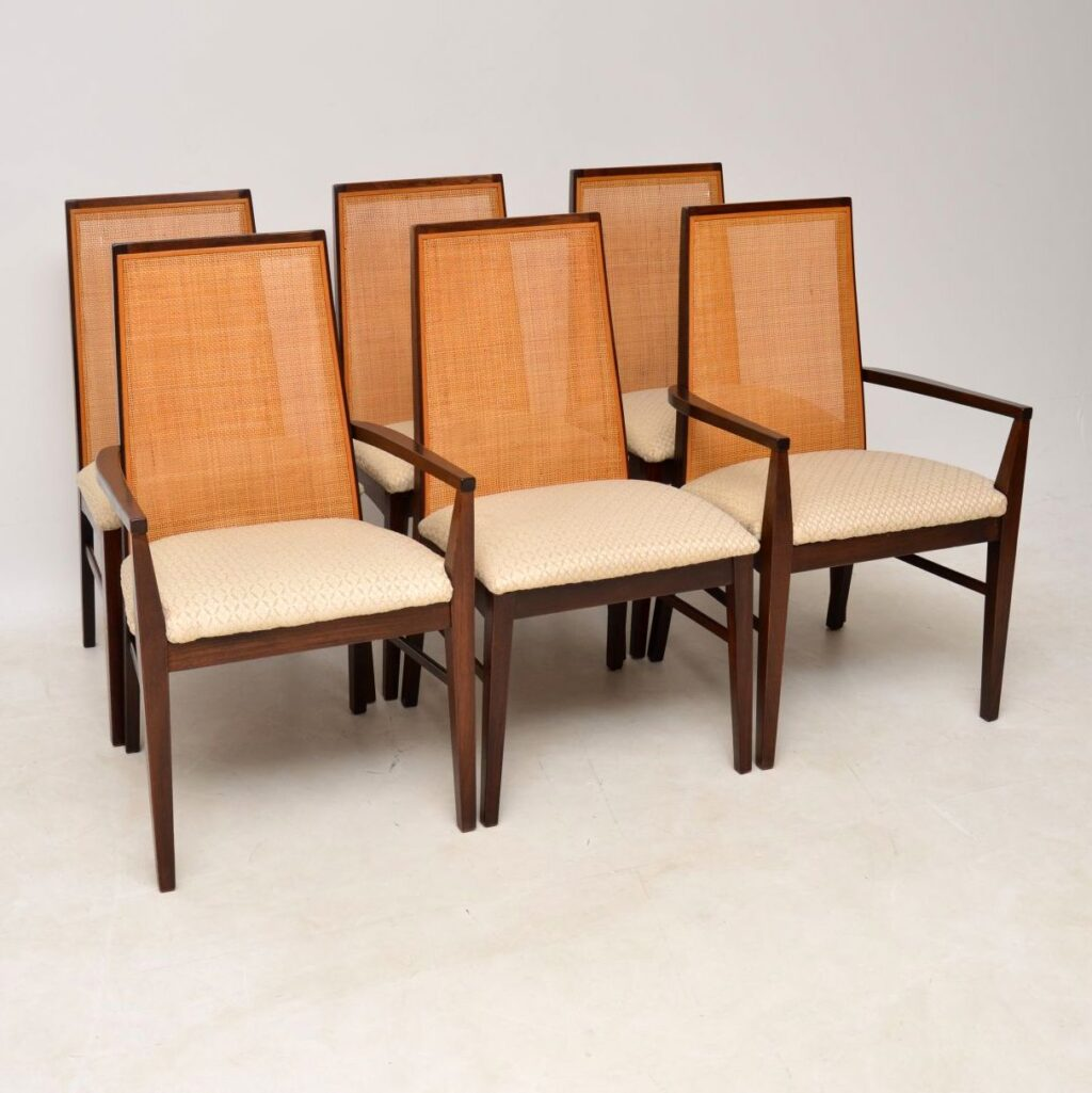 danish rosewood vintage retro dining chairs