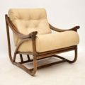 vintage_retro_bamboo_leather_armchair_1