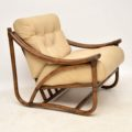 vintage_retro_bamboo_leather_armchair_2