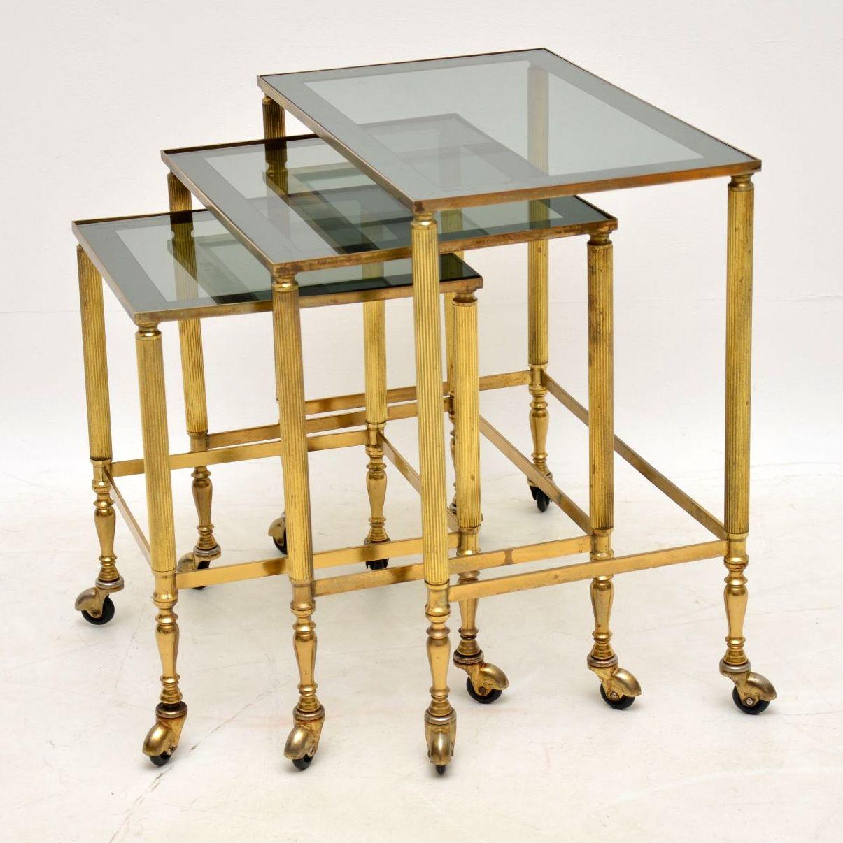 vintage_retro_brass_nest_of_tables_3