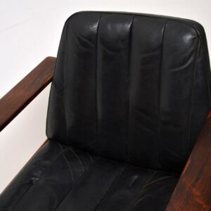 dokka mobler leather armchair desk chair retro vintage