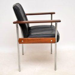 dokka mobler leather armchair desk chair retro vintage