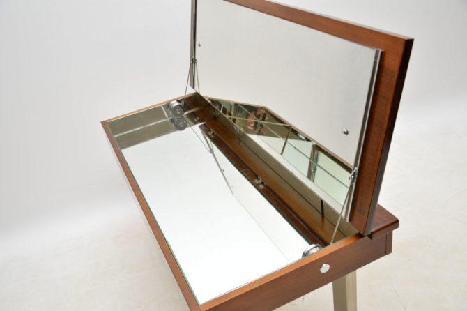vintage retro walnut dressing table stool chests