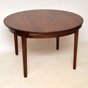 danish rosewood retro vintage lotus flip flap dining table dyrlund