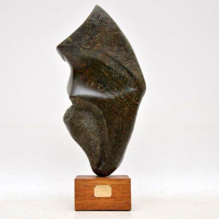Contemporary British Stone Sculpture by Mo Gardner - 'Warrior' - 1994