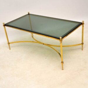 vintage retro french brass coffee table