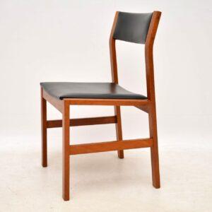 danish teak retro vintage dining chairs set of six 6
