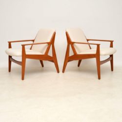 1960's Pair of Danish Teak Armchairs by Arne Vodder