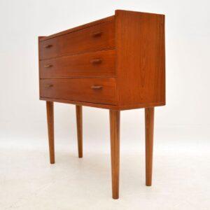 danish teak retro vintage chest of drawers