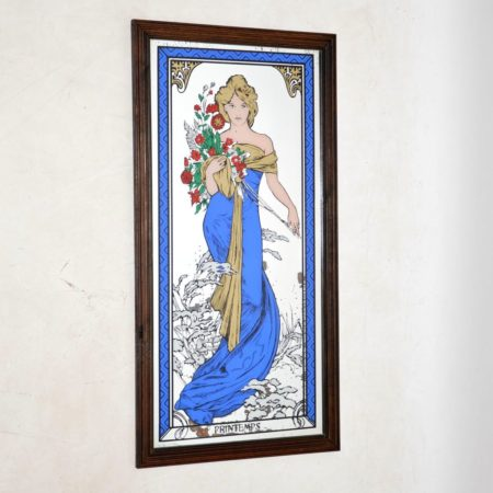 1960's Vintage French Mirrored Print