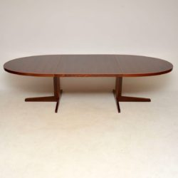danish rosewood retro vintage extending dining table