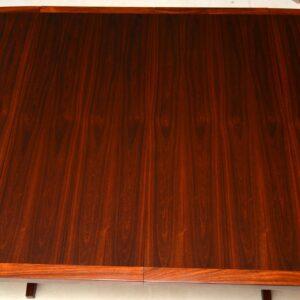 danish rosewood retro vintage extending dining table