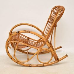 1960's Vintage Bamboo Rocking Chair