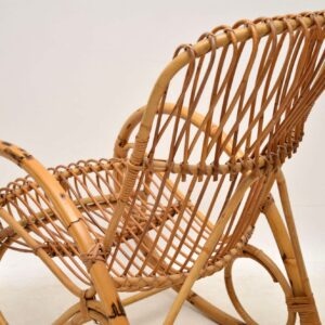 retro vintage bamboo rocking chair armchair