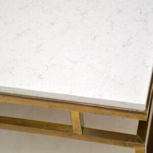 retro vintage brass marble quartz coffee table