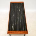 1960's Vintage Teak , Glass & Brass Coffee Table