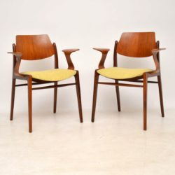 1960's Pair of Teak Vintage Armchairs by Egon Eiermann
