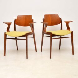 pair of danish teak retro vintage armchairs egon eiermann