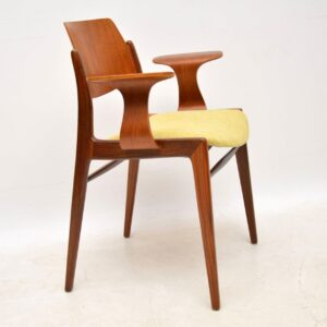 pair of danish teak retro vintage armchairs egon eiermann