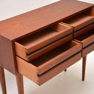 danish teak retro vintage chest of drawers side table