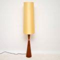 1960's Danish Vintage Rosewood & Copper Lamp