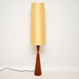 danish rosewood retro vintage lamp