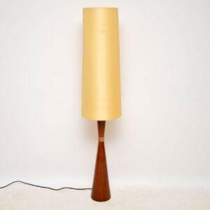 danish rosewood retro vintage lamp