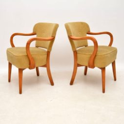 pair of retro vintage danish cocktail armchairs