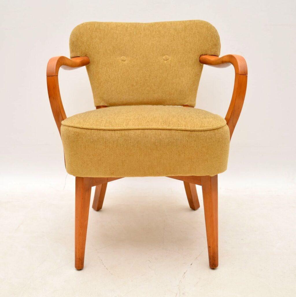 pair of retro vintage danish cocktail armchairs