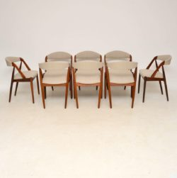 Set of 8 Danish Rosewood & Teak Dining Chairs by Kai Kristiansen