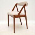 danish rosewood teak vintage dining chairs kai kristiansen