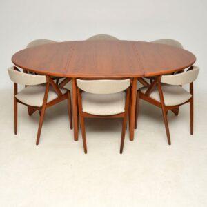 Set of 8 Danish Rosewood & Teak Dining Chairs by Kai Kristiansen
