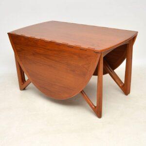 1960's Danish Teak Vintage Dining Table by Kurt Ostervig
