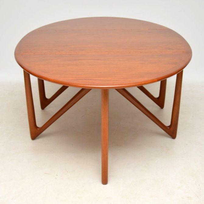 danish teak vintage dining table kurt ostervig niels kofod