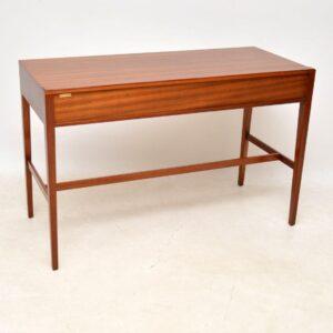 1960's Vintage Mahogany Writing Table / Desk